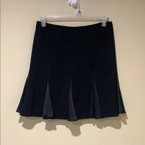 Cache Silk inlay pleated skirt
